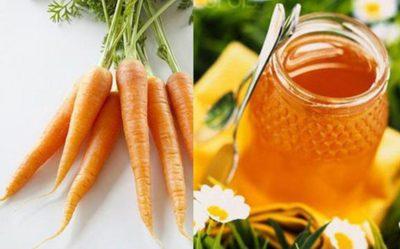 Cà rốt, mật ong chữa táo bón cho trẻ