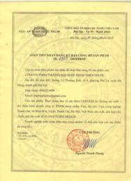 Giấy chứng nhận, cấp phép của Bộ Y Tế, giấy chứng minh nguyên liệu nhập khẩu
